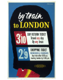 By Train to London Posters