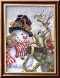 Frosty, Prance And Friends Poster by Donna Race