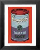 Campbell's Soup Can, 1965 (Blue and Purple) Print by Andy Warhol