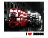 London Bus Red, I Love London Posters