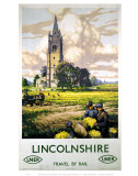 Lincolnshire Farmers and Church Poster