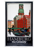 Hamburg Via Grimsby Print