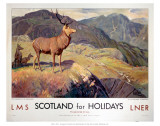 Scotland for Holidays Poster by Sharon Pitts
