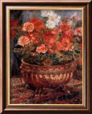 Maceta de flores Láminas por Pierre-Auguste Renoir