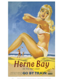Herne Bay Girl in White Bikini Art