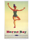 Herne Bay Girl in Green Costume Posters
