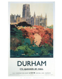 Durham Trees and Cathedral Poster