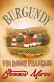 Burgundy Poster by Val Bustamonte