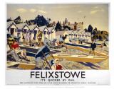 Felixstowe Beach Huts Posters