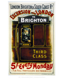 Excursion from London to Brighton Prints