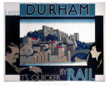 Durham, by Rail Prints