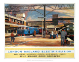 London Midland Electrification, Still Making Good Progress Posters