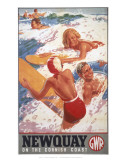 Newquay, on the Cornish Coast Posters
