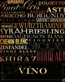 Vino Type Print by Stephen Fowler