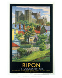 Ripon Black Frame Posters