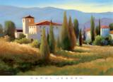 Carol Jessen - Blue Shadows in Tuscany I Plakát