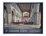 St. David&#39;s GWR Pembrokeshire South Wales Prints