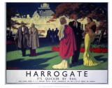 Harrogate, It's Quicker by Rail Poster