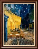 Den udendørs café på Place du Forum, Arles, om natten, ca.1888 Poster af Vincent van Gogh