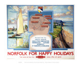Norfolk for Happy Holidays Posters
