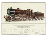 Express Passenger Locomotive, No.38, London, Brighton and South Coast Railway Art
