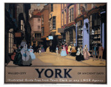 Walled City York of Ancient Days Poster