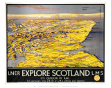 Explore Scotland Map Poster