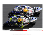 Valentino Rossi, Side by Side Posters by Ron Fisher