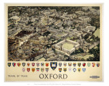 Oxford View from Air Art