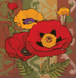 Majestic Poppies I Print by Diane Hoeptner