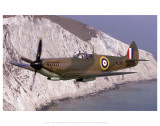 Spitfire Over the White Cliffs of Dover Posters