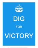 Dig for Victory Plakát