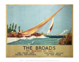 Broads Boat Blowing to Side Prints