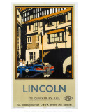 Lincoln Tudor Building and Boat Posters