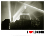 St Paul's Cathedral, I Love London Posters