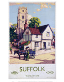 Suffolk Church, Horse and Cart Posters