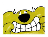 Roobarb and Custard: When Roobarb Grinned Print by Bob Godfrey