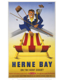 Herne Bay Man with Deckchair Prints