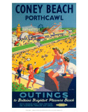 Coney Beach Porthcawl, Outings to Britain's Brightest Pleasure Beach Posters