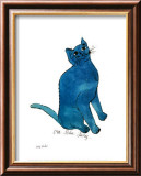 Un petit chat bleu, vers 1954 Art par Andy Warhol