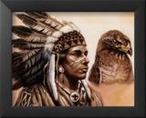 Young Hawk Affischer av Gary Ampel