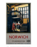 Norwich Inside Tudor Building Affiches
