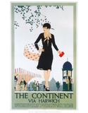 The Continent, Via Harwich Posters