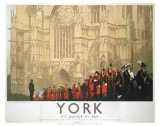 York Cathedral Procession Print