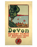 Devon Holiday Tickets at Reduced Fares Prints