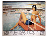 New Brighton, Wallasey, Swimming Pool and Girl Posters