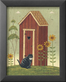 Outhouse with Cat Prints by Warren Kimble