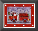 Firetruck Posters by Marnie Bishop Elmer