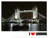 Tower Bridge, I Love London Prints