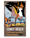 Coney Beach Porthcawl, Britain's Brightest Pleasure Beach, Carousel Prints